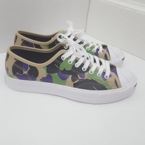 Converse Jack Purcell camo leather sneaker…